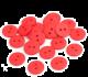Gumb iz resina, 15 mm, rdeč