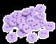 Gumb iz resina, 15 mm, vijoličen