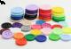 Gumb iz resina, 18 mm, z robom, različne barve