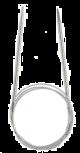 Krožne kovinske pletilke z jeklenimi kabli, dolžina 100 cm
